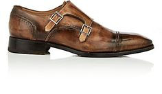 Mens Burnished Leather Double-Monk-Strap Boots Harris Firenze 8wwvYsxd9