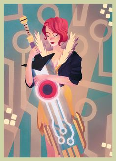 Transistor's Red | This poster design is by character artist Burak Cinar. It's a fan project though, one shared on Behance and for Supergiant Game's popular Transistor game.