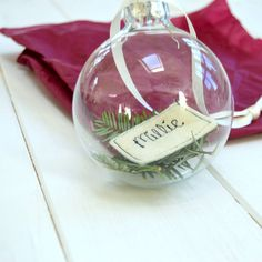 Personalised Christmas Pine Bauble