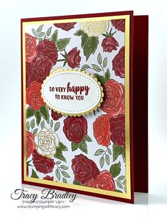 Stampin' Up! Christmastime Is Here Designer Series Paper - Stamping With Tracy Christmas Rose, Christmas Cards, Paper Cards, Diy Paper, Heartfelt Creations, Stamping, Card Stock, Tuesday, Craft Supplies