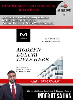 🌟 New Project - M Condos In Brampton 🌟 🌟 Developed By Primont Homes, In North/West Brampton 🌟  Register Now For Platinum Access:  Call: 647-892-1457 ( Inderjit Sajjan ) Register Now: https://www.newcondosdeals.com/copy-of-home #Spectrum #RealEstate #Agent #Consultant #InvestWithRight