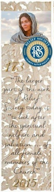 Didi @ Relief Society: Relief Society 173 Years - Bookmark!