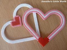 Valentine's Day craft - Hama bead heart frame  by Jennifer Jain