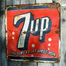 vintage 7up sign - Google Search