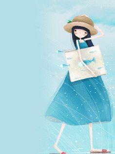 ~ Korean Illustration, Children's Book Illustration, Creative Pictures, Cool Photos, Santoro London, Illustrations, Whimsical Art, Amigurumi Doll, Wall Sticker