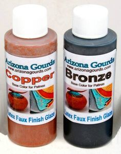 Copper Patina Paint Bonnie Gibson owner of Arizona Gourds sells products that she herself uses & is very sharing in her knowledge ,,, she is a exceptional instructor and anyone who has seen her work knows just how amazingly talented she is Diy Art Projects, Wood Projects, Dremel, Gourds Birdhouse, Birdhouses, Patina Paint, Decorative Gourds, Faux Painting, Painting Tips