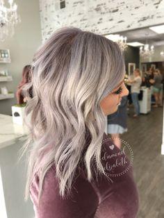 Love Hair, Great Hair, Gorgeous Hair, Grey Hair Dye, Ash Blonde Hair, Hair Color And Cut, Hair Affair, Hair Color Balayage, Hair Dos