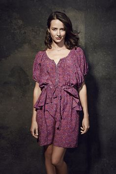 "Amy Acker (Samantha ""Root"" Groves) promoting ""Person of Interest""."