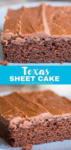 My Texas Sheet Cake is the stuff sweet dreams are made of - a thick fudgy icing fused to the top of a moist cake masterpiece. Youll be doing the two-step after just one bite of this quick easy but oh so rich dessert. Easy Texas Sheet Cake Recipe, Sheet Cake Recipes, Sheet Cakes, Sweet Desserts, Just Desserts, Delicious Desserts, Vegetarian Desserts, Cupcakes, Cupcake Cakes