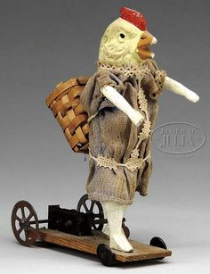 FABULOUS EARLY EASTER WIND-UP PLATFORM TOY.