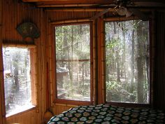 The bamboo treehouse at the hostel in the forest - Georgia