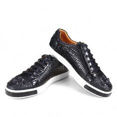 Mens Alligator Leather Cap Toe Lace-up Oxford Classic Modern Business Dress Shoes Slip On Dress Shoes, Leather Dress Shoes, Leather Loafer Shoes, Loafers Men, Leather Boots, Leather Cap, Sneakers Mode, Sneakers Fashion, Shoes Sneakers