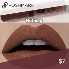 Nutmeg matte lipgloss Super thick long lasting color stay with aloe vera and vitamin E amazing pigment! Makeup Lipstick