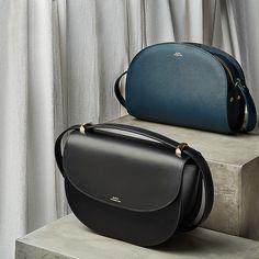 A.P.C. - Leather Shoulder Half-Moon Bag   STYLEBOP