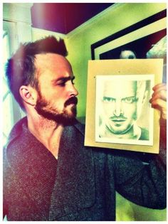 aaron paul.  hot with a beard.