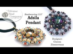 Adsila Pendant (Tutorial) - YouTube, supplies from Potomac Bead Company (www.potomacbeads.com)