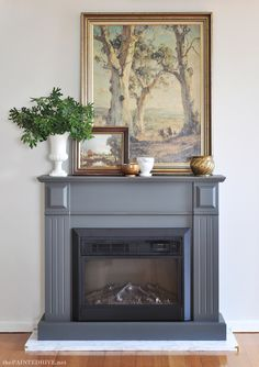 easy diy a fireplace makeover