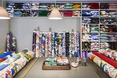 A journey into Josef Frank's world of prints - Brazil, Delhi, Hawai, Himalaya, La Plata, Manhattan, Teheran, and Under Ekvatorn are all names of some of Josef Frank's textile prints on display this summer at Svenskt Tenn's store in Stockholm.