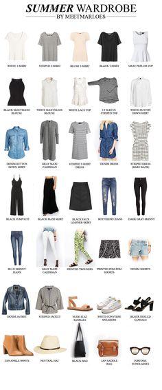 35-piece summer 2016 capsule wardrobe