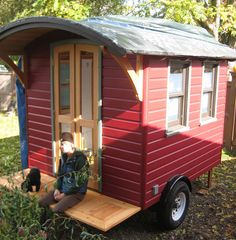 Katy may have other plans for it, but to me this begs to be a portable gypsy tea-house!