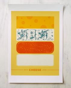 Okay, that's super cool.  Not photos, but fun cheese!      Cool Food Posters - Design - ShortList Magazine
