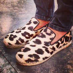 Celine leopard print espadrilles