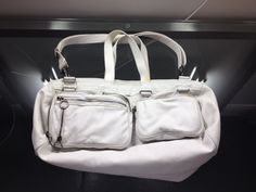 Dior Homme DeVille White Leather Duffle Bag Hedi Slimane