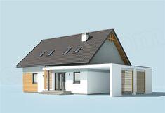 Zdjęcie projektu Savona SLN2418 My House Plans, Family House Plans, House Designs Ireland, Garage Extension, Modern Fence Design, Carport Designs, Pergola Carport, House Roof, Cozy House