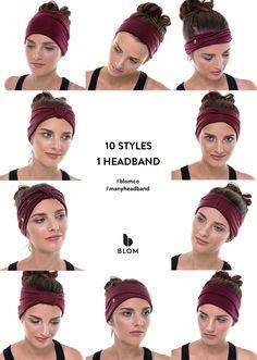 Ten ways to style BLOM's Many Headband