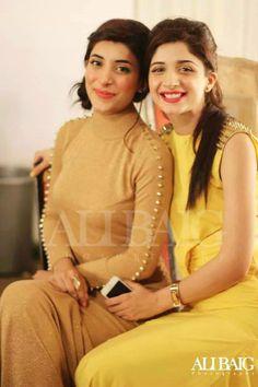 Pakistani actresses Mawra Hocane and Urwa Wusqa sisters.