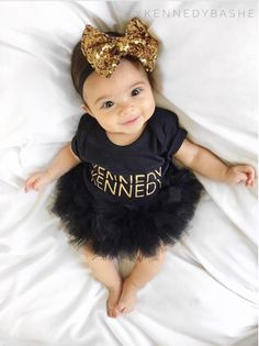 Kennedy Bashe - 3 months ❤ Gorgeous baby girl in a custom black tutu dress Dec Baby Kind, Cute Baby Girl, Baby Love, Twin Babies, Little Babies, Cute Babies, Black Kids Fashion, Baby Girl Fashion, Beautiful Children
