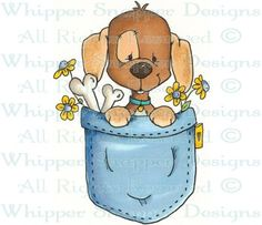 Pocket Pup - Dogs - Animals - Rubber Stamps - Shop