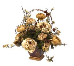 artificial christmas arrangements | White peony arrangement | Flickr - Photo Sharing!