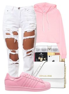 """Nostalgia✨"" by maiyaxbabyyy ❤ liked on Polyvore featuring MICHAEL Michael Kors, Reverse and adidas"