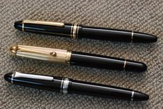 Montblanc 146, Modern Aurora 88 Large, and Sailor 1911 Full Size