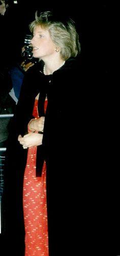 March 14, 1982: Princess Diana arrives at a Berlioz Music concert at Royal Albert Hall, London.