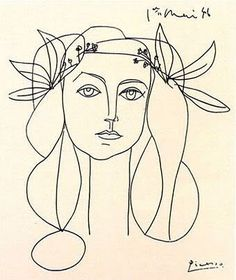 Picasso drawing of Francoise Gilot.