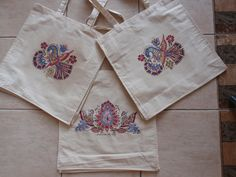 paitint on textile folkart Vajnory Folk Art, Textiles, Tableware, Dinnerware, Popular Art, Tablewares, Fabrics, Dishes, Place Settings
