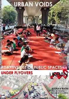 Existences of public spaces in cities are essentials for social interactions to take place, fostering creation of sustainable, safe and livable cities. Although public spaces are often designed for certain activities, existence of unplanned spaces and urban voids throughout the city offers abundance of opportunities. This report attempts to focus on the concept of urban voids (leftover spaces/flyovers),identifying and analyzing the type of void that  have a great potential for turning in...