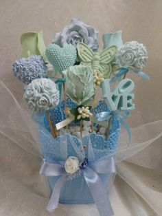 Scented plaster flowers
