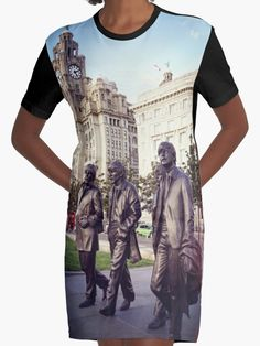 The Beatles photograph taken in Liverpool on t-shirt dress by KCiPhoto