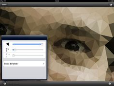 modify your images artistically transforming them into a mesh of triangles