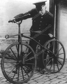 Antique Bicycle & Police Officer Vintage Reprint Of Old Photo Antique Bicycle & Police Officer Vintage Reprint Of Old Photo Here is a neat col Hardtail Mountain Bike, Mountain Biking, Antique Bicycles, Old Bicycle, Bike Brands, Buy Bike, Road Bike Women, Bike Accessories, Cycling Bikes