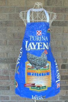 Apron. Kind of a cool project for a used feed bag.