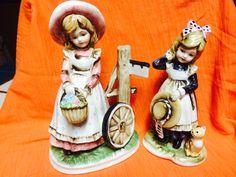 Vintage porcelain girls figurine Made in Japan