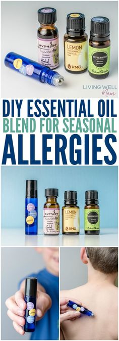 Tired of dealing with coughing, congestion, sinus issues, and itchy watery eyes from seasonal allergies? Try this DIY essential oil blend as an all-natural remedy! The roller blend makes it easy to use too.