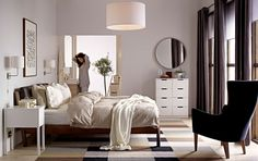 Order or view the latest version of the IKEA catalogue in print, online or in the IKEA catalogue app. Links to IKEA brochures for kitchens, wardrobes, living room storage and curtains and panels are also included. Ikea Room Ideas, Ikea Bedroom, Bedroom Decor, Ikea Bed, Bedroom Inspirations, Master Bedroom Interior Design, Home Bedroom, Home Decor, Ikea Bedroom Design