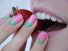 Easy Do It Yourself Manicure.  I might would go a little more toward darker watermelon colors for me.