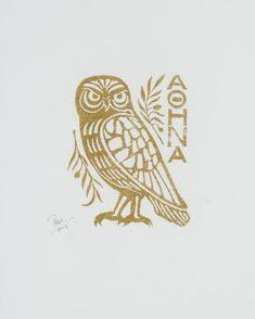Athena Symbol, Athena Tattoo, Greek Mythology Tattoos, Roman Mythology, Tattoo Symbole, Vogel Tattoo, Athena Goddess, Greek Gods And Goddesses, Symbol Tattoos