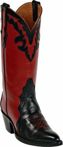 My Boots :)   Womens Black Jack Boots Black & Red Leather Triad Custom Boots 1400